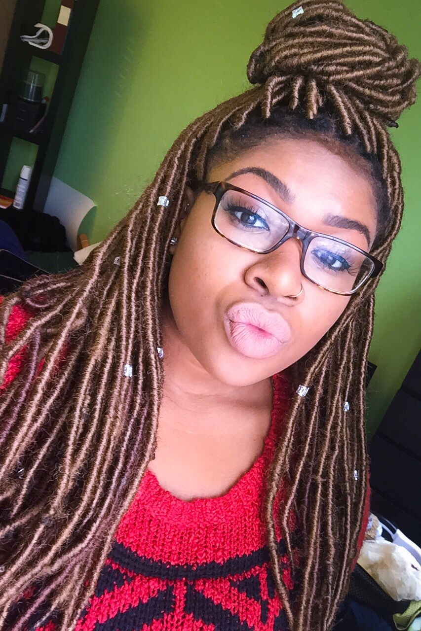 Stupendous Faux Locs W Marley Hair No Braid Method Beauty Skin Hair Hairstyle Inspiration Daily Dogsangcom