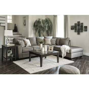 Calicho Cashmere 2 Pc Laf Sectional By Signature Design