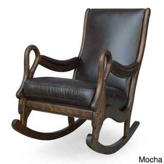 @Overstock   Leather Rocking Chair Has A Classic Design Furniture Is  Upholstered In Rich Dark