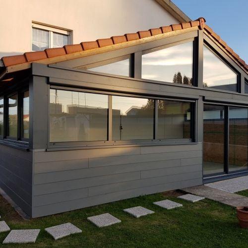 extension veranda ossature bois