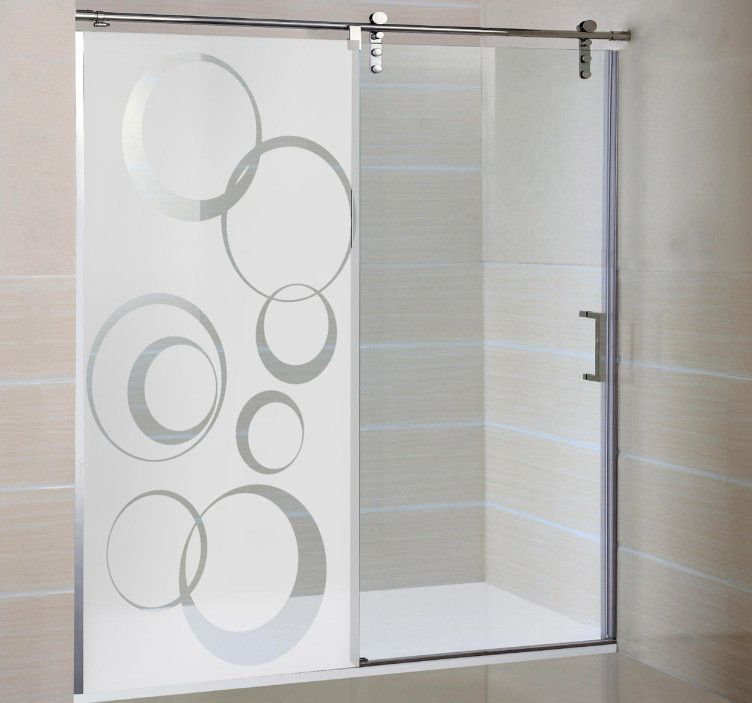Kreise Glastur Aufkleber Window Glass Design Glass Shower Doors Frameless Glass Bathroom