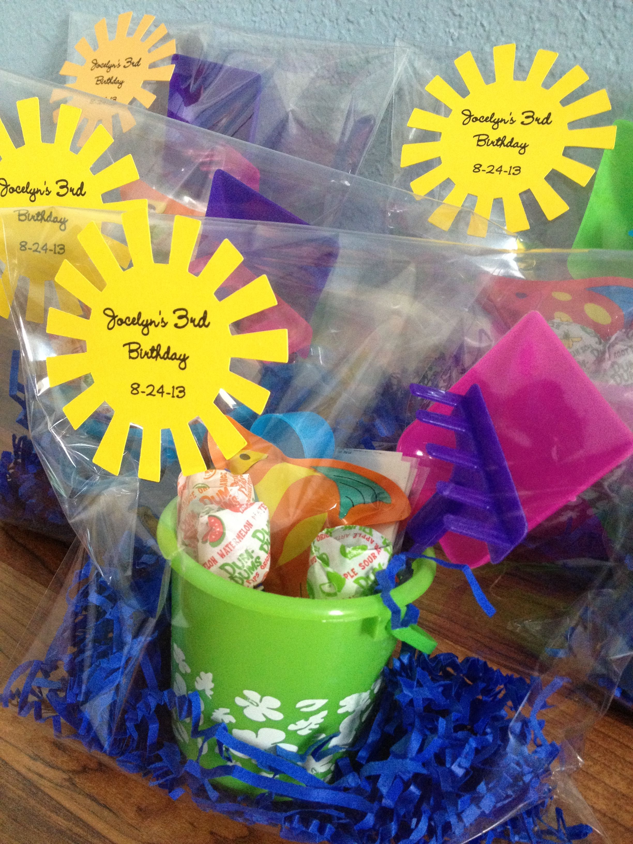 beach themed birthday party favors summer birthdays water party