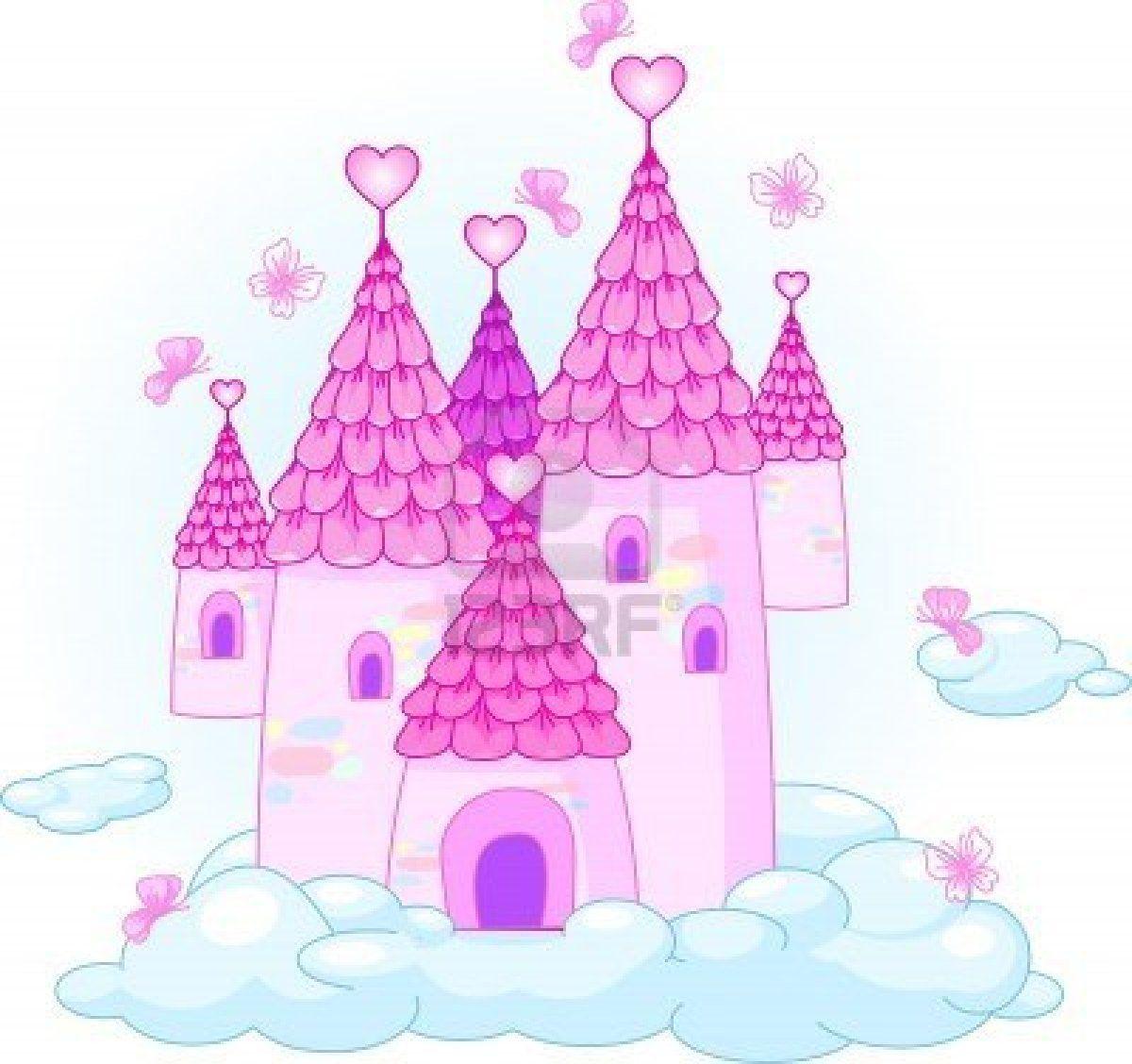 Illustration of a Fairy Tale Princess Castle in the sky   Cartoons ...