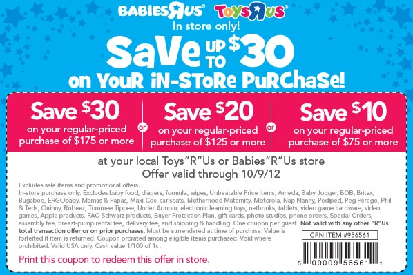 It is an image of Punchy Toys R Us Coupons in Store Printable