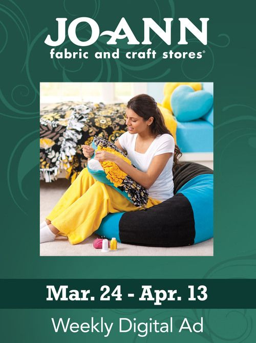 Jo-Ann Fabric and Craft Stores - March 24 - April 13 #Glimpse_by_TheFind