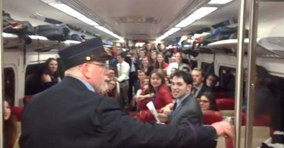 This is such a great Christmas present for him... His smile? Priceless!      http://www.littlethings.com/train-conductor-yale-glee-club-christmas-v3/?utm_source=crr&utm_medium=social&utm_campaign=performances