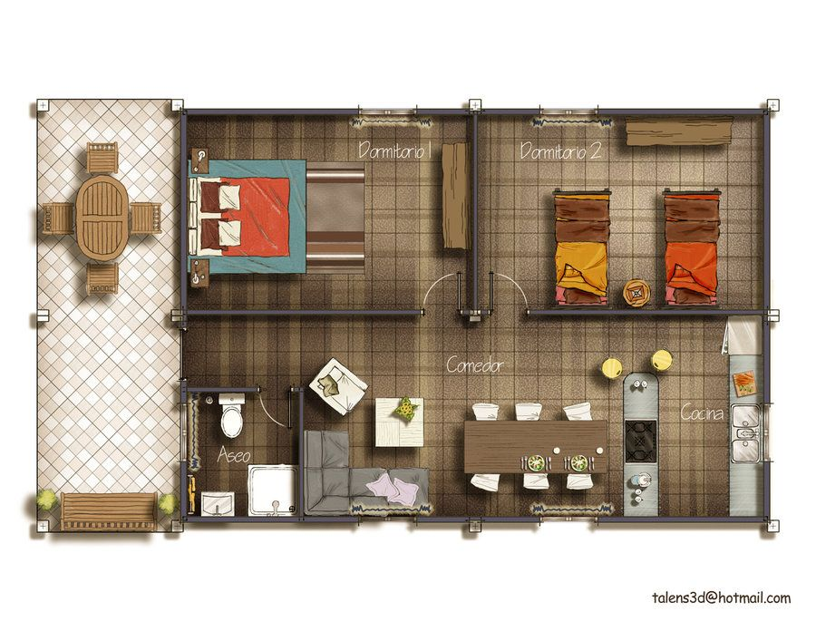 Floor Plan 2d By Talens3d On Deviantart Small House Floor Plans Floor Plan Design Rendered Floor Plan