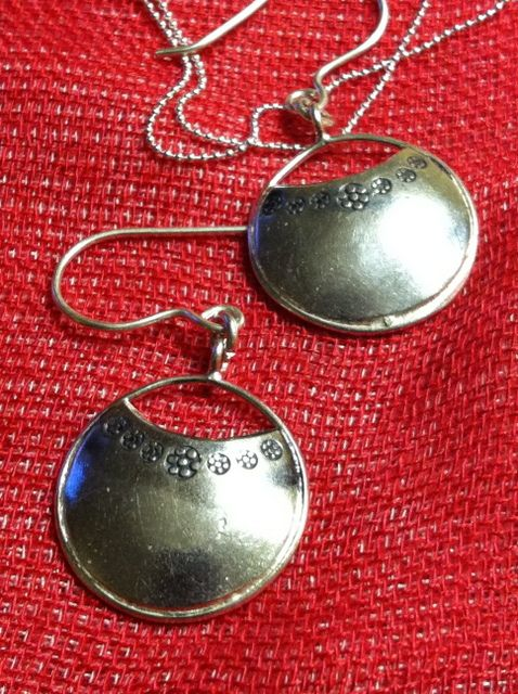 Earrings :: Stamped Silver Disc Earrings - Welcome To Blank Slate