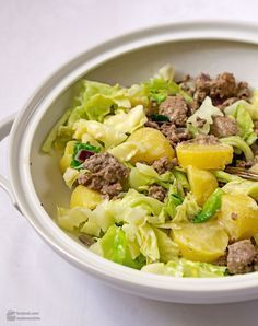 Photo of Savoy stew with potatoes and minced meat – Madame Cuisin …