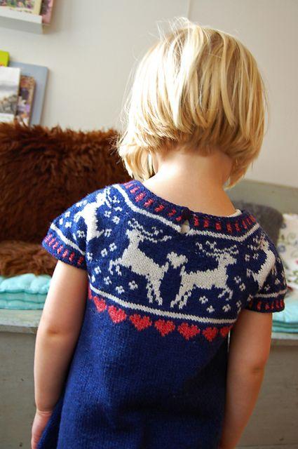 Ravelry: Deer Dress pattern by Signe S. Simonsen - so sweet!