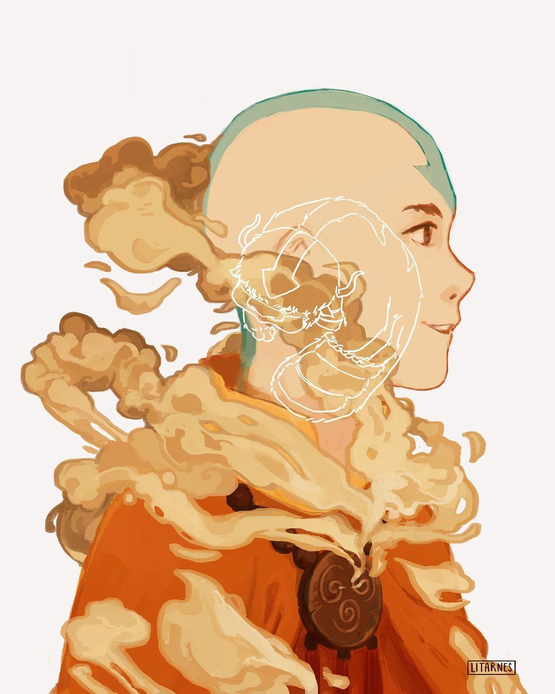 """Litarnes on Instagram: """"""""I don't normally play this card, but I'm the Avatar!"""" . Finally at long last, here is Aang after 100 years! I cry, he was so hard to draw.…"""""""