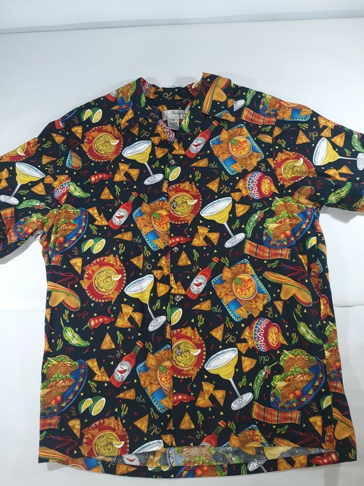 d31ebfb9581 NCF Designs Mens Taco Chips Margarita Hawaiian Shirt Size XL  fashion   clothing  shoes  accessories  mensclothing  shirts (ebay link)
