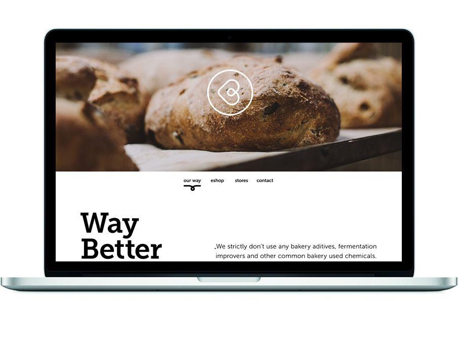 Breadway website on Behance