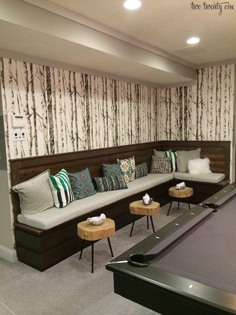 Basement Game Room Designs: Pool Table Room, Billards Room