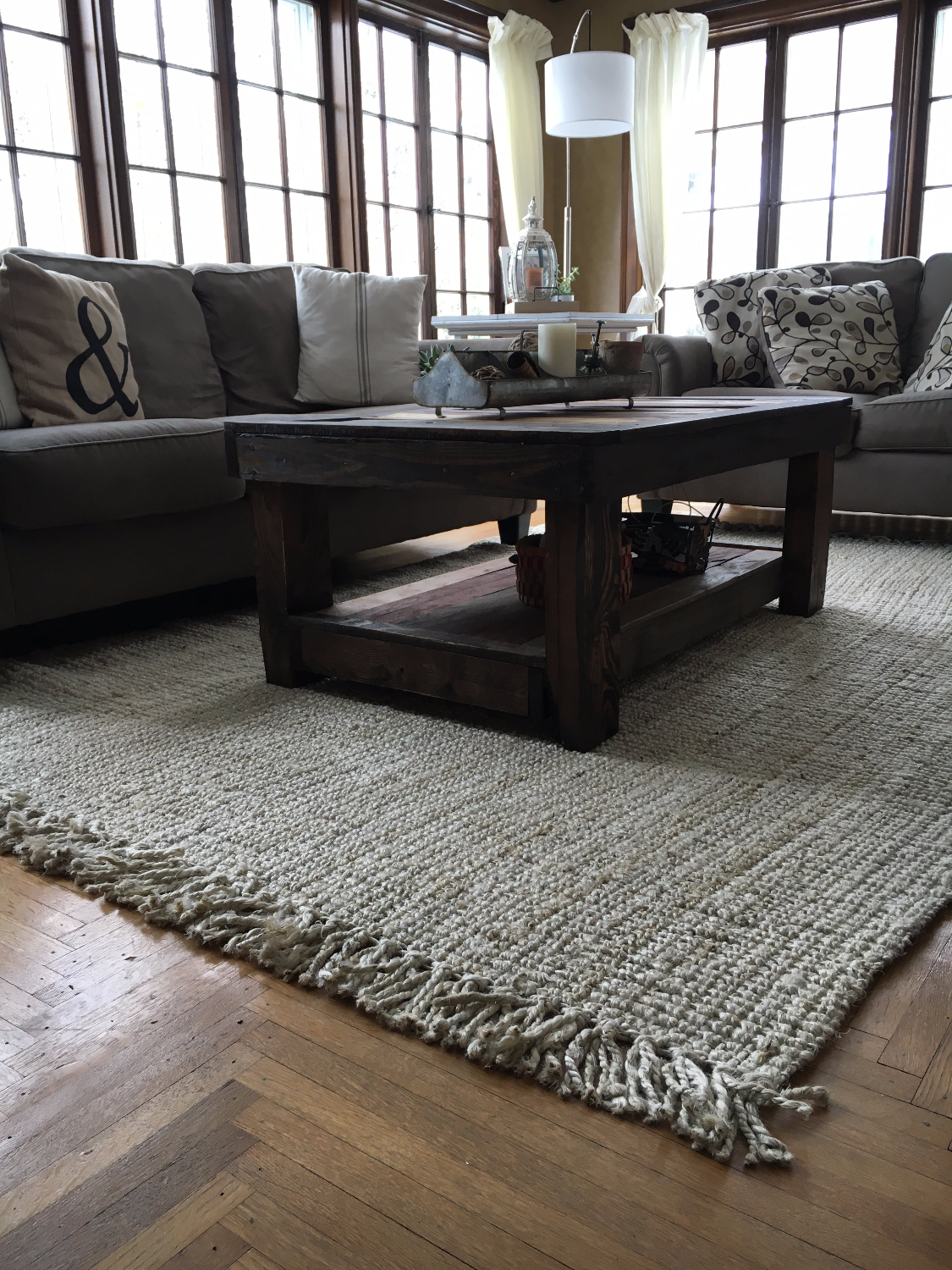 A Lovely Sun Room With Rugs Usa S Maui Chunky Loop Jute