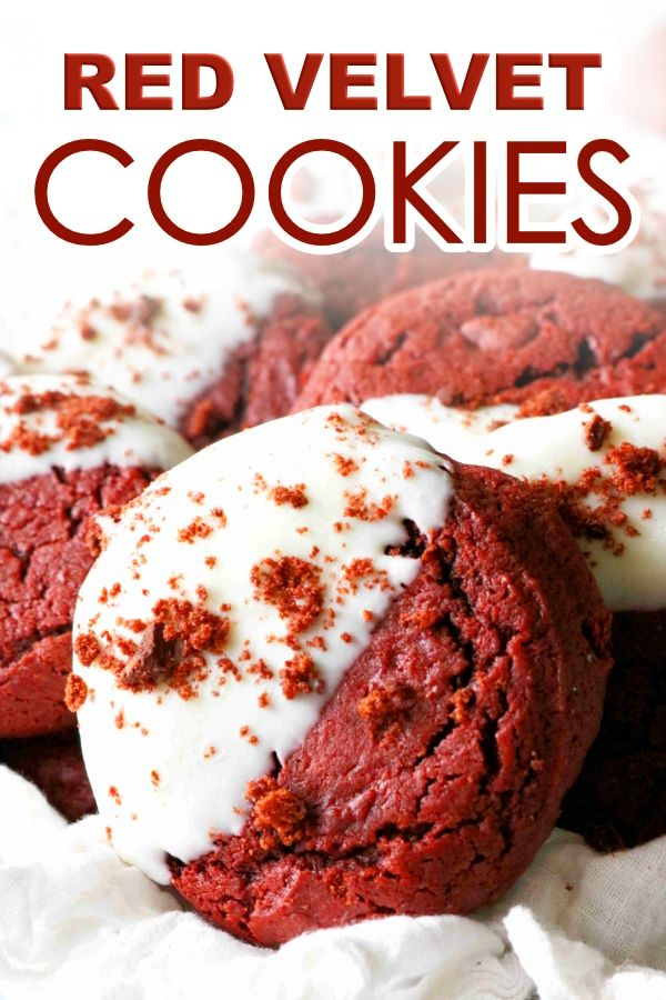 Red Velvet Cookies Recipe Recipe Cookie Recipes Red Velvet Cookies Easy Cookie Recipes