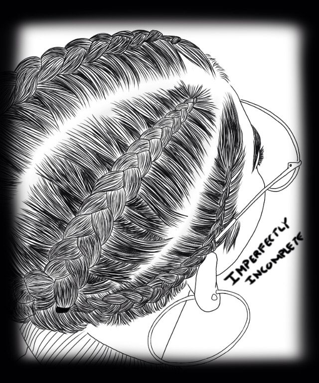 How To Draw Cornrows : cornrows, Black, Woman, Braids, Cornrows, Drawing, Doodle, Picture, Braids,, Hair,, Techniques