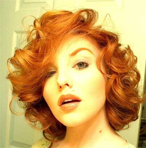 Short Hairstyles For Curly Red Hair Curly Hairstyles Hairstylesforcurlyhair Short Hair Styles Short Red Hair Hair