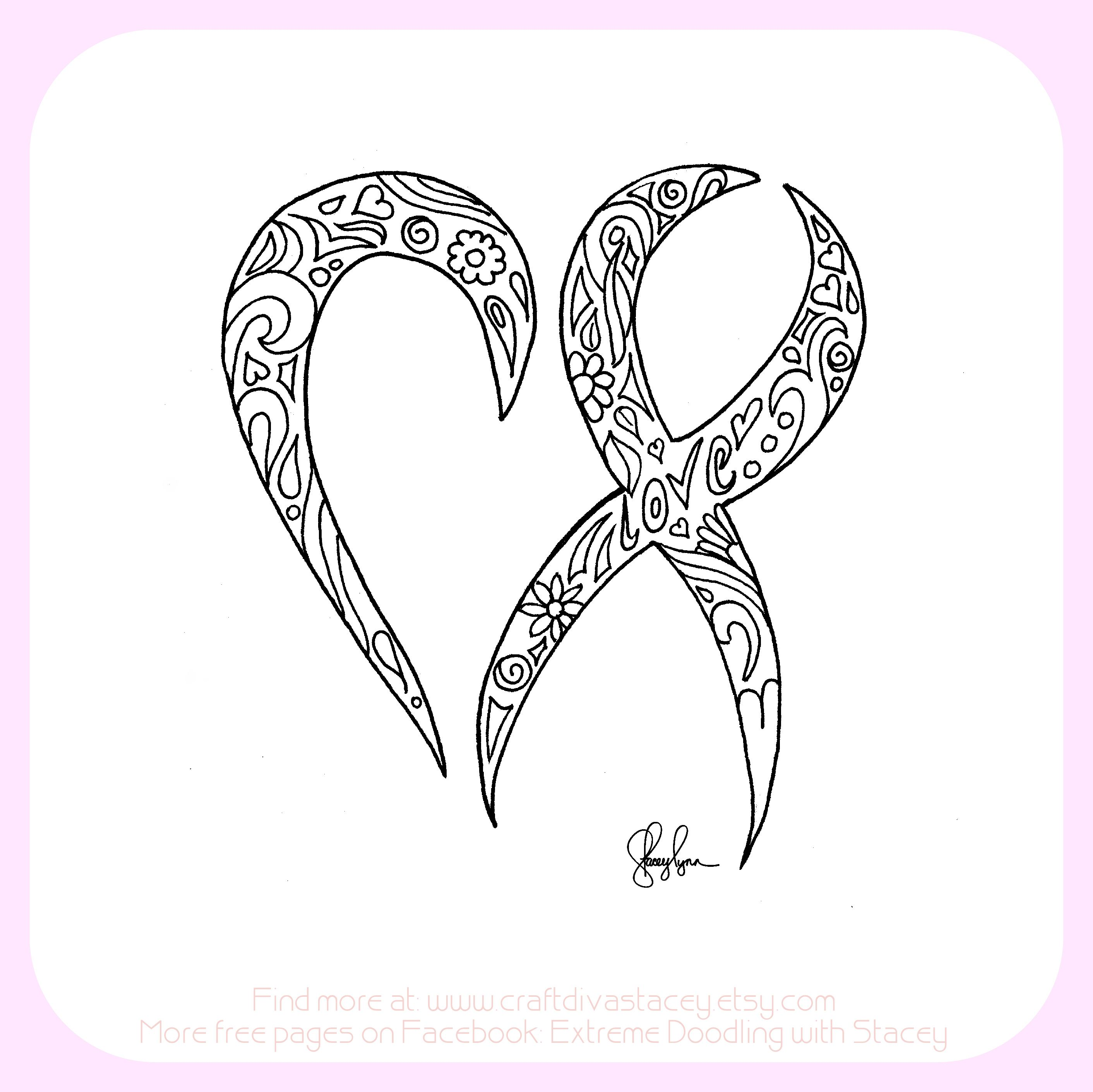 Have a heart for cancer Cancer ribbon coloring page Find more