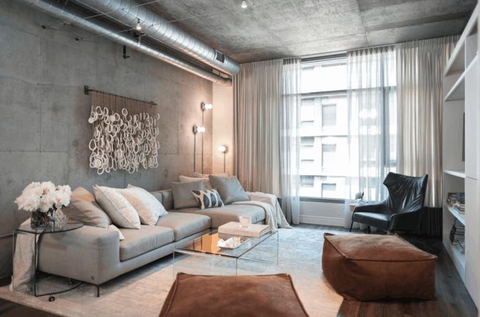 Wohnzimmer Lampe ~ Wohnzimmer lampe modernes wohnzimmer mit industriellen leuchten