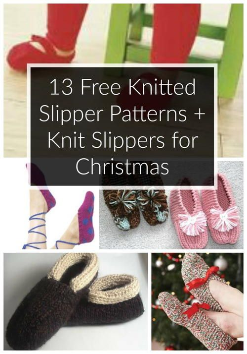 16 Free Knitted Slipper Patterns Patterns Free And Christmas Knitting