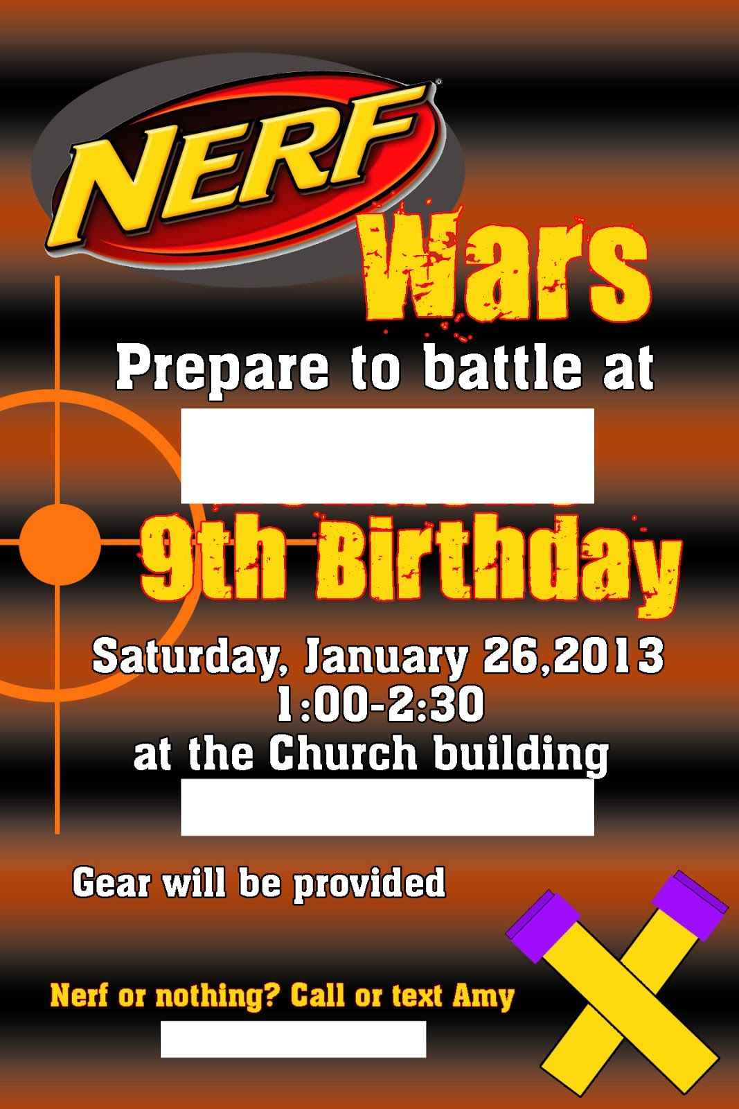 Craft Tales From The Unknown Nerf War Party Birthday Parties