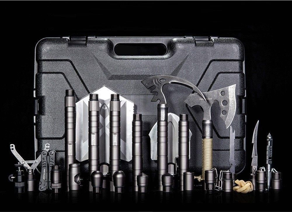 details about survival axes multi tool kit shovel camping vehicle