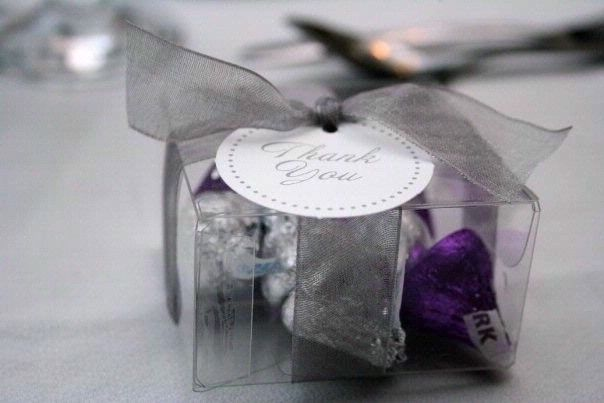 Purple And Silver Kisses For Wedding Shower Favor