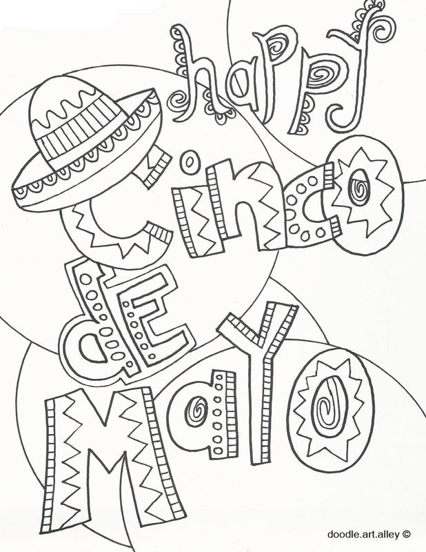 Cinco De Mayo Coloring Pages From Doodle Art Alley Print And