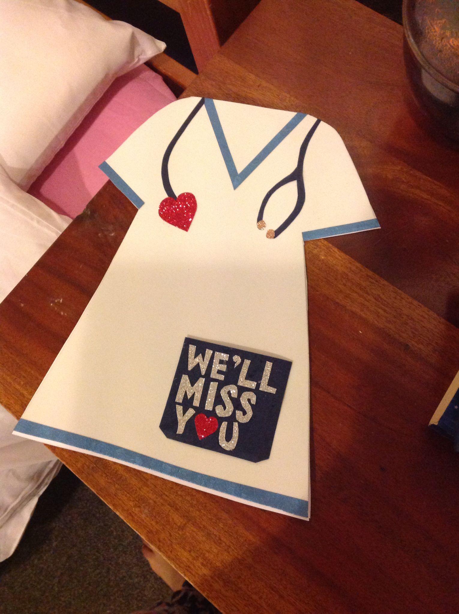 A Farewell Card For A Nurse Farewell Cards Cards Nurse