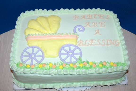 Baby Shower Cake Perfect Inscription