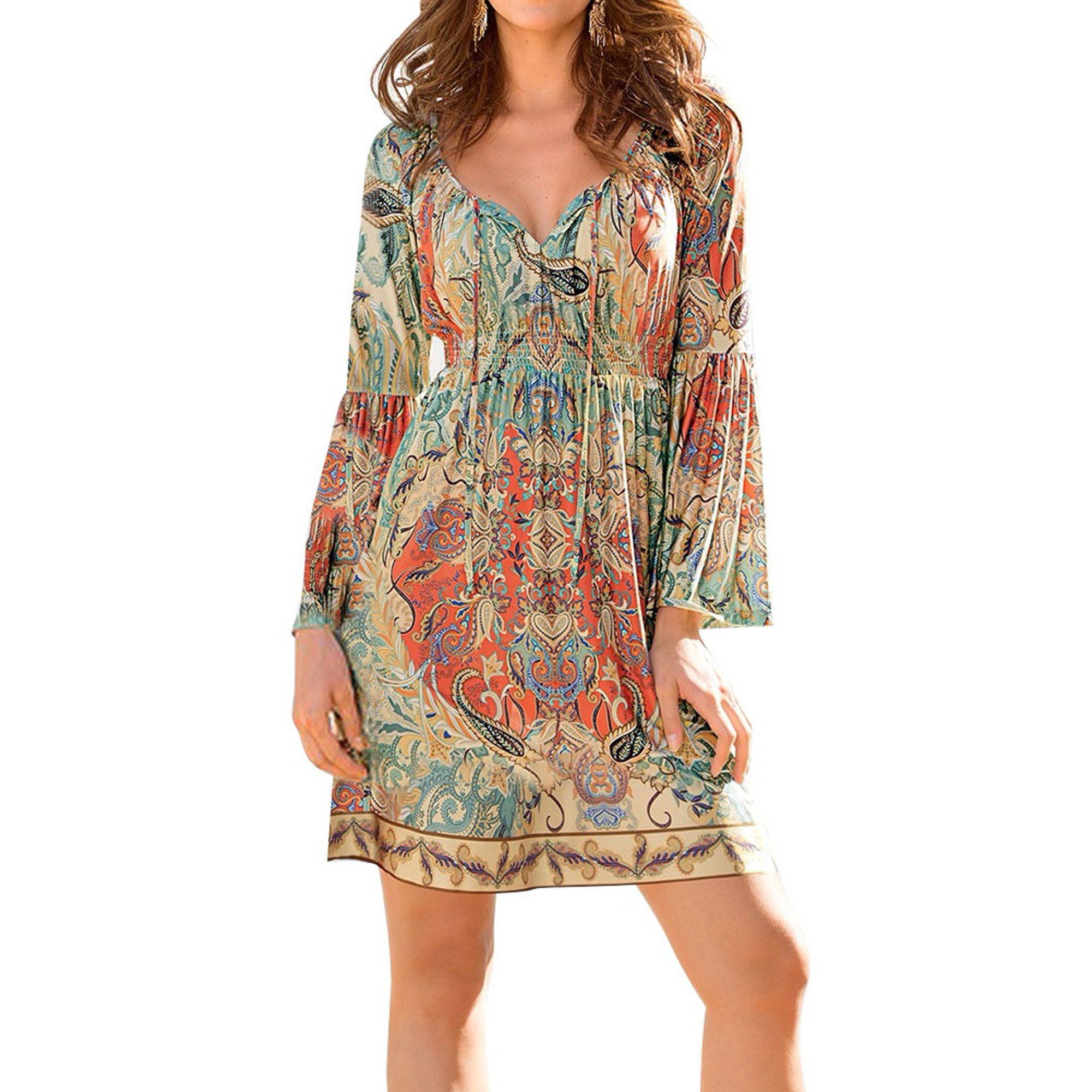 Zxzy Zxzy Boho Style Women Dress Long Sleeve Beach Summer Dresses Floral Print Vintage Maxi Dress Walmart In 2021 Vintage Maxi Dress Boho Fashion Long Sleeve Dress [ 2000 x 2000 Pixel ]