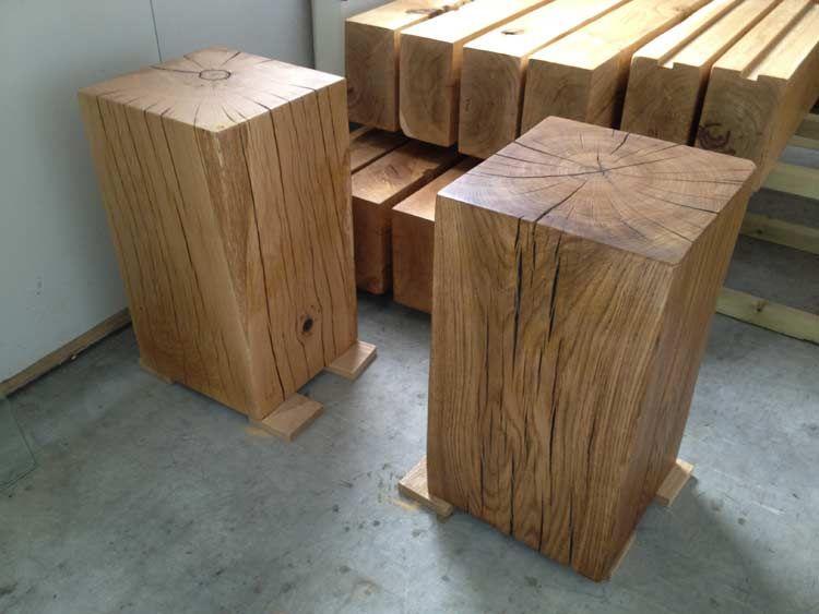 Best Solid Oak Side Tables Rustic Oak Furniture Dark Wood 400 x 300