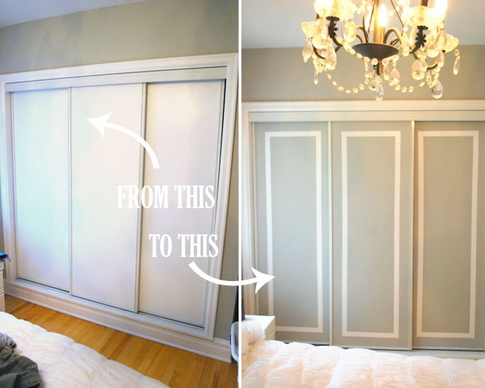 Exceptional DIY Challenge: Give Your Closet Doors A Makeover U2013 Ideas And Design Tips