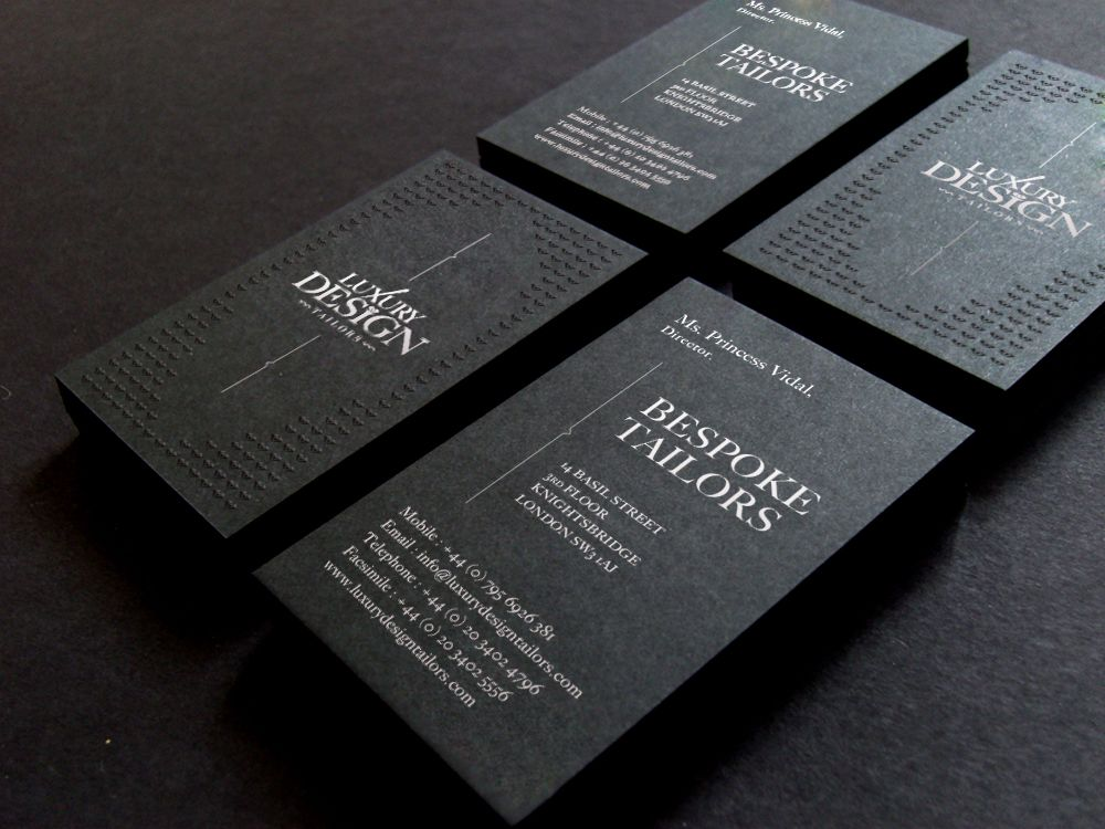 Luxury Design Tailors business cards | business card | Pinterest ...