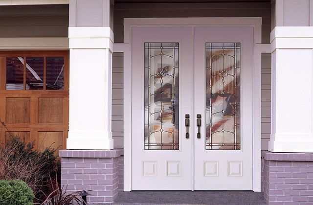 white double front door. Feather River Door Fiberglass Entry Doors - Smooth White Double By Door, Maybe My New Front Door! O