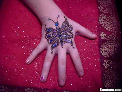 نقش حناء اطفال نقش ملون للبنات الصغيرات منتديات رومنسيات ديزاين Mehndi Simple Simple Mehndi Designs Mehndi Designs For Hands