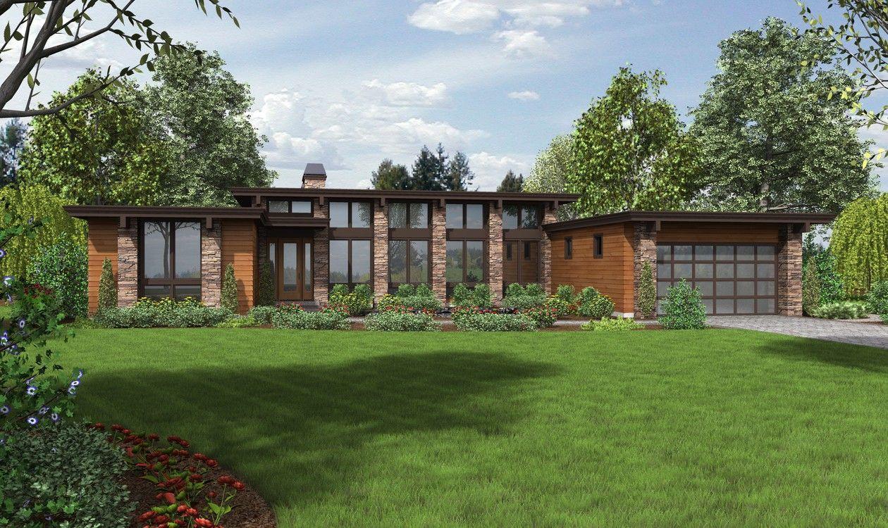 Mascord House Plan 1240 The Hampton Modern Style House Plans Ranch House Plans Modern House Plan