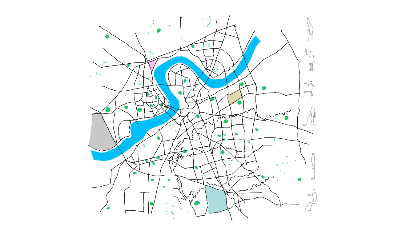 Week 01 Architecture Student Surat City Abstract Traced Map Design