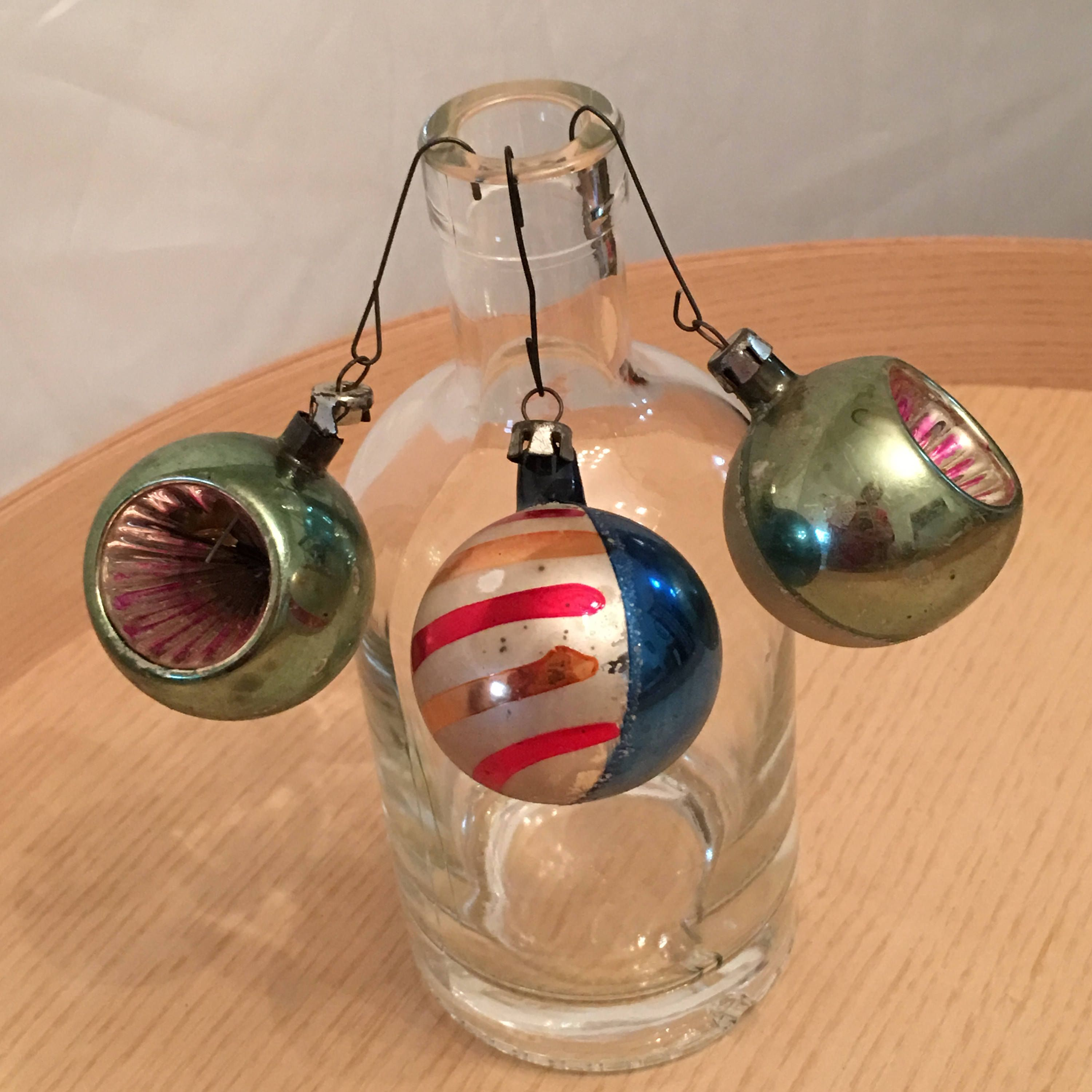 Mercury Balls Decorations Small Mercury Glass Christmas Ornaments  Miscellaneous Patterned