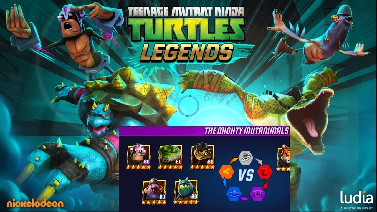 Ninja Turtles Legends All Mutanimals Max Level Tier 6 | Ninja turtles,  Turtle, Teenage mutant ninja turtles