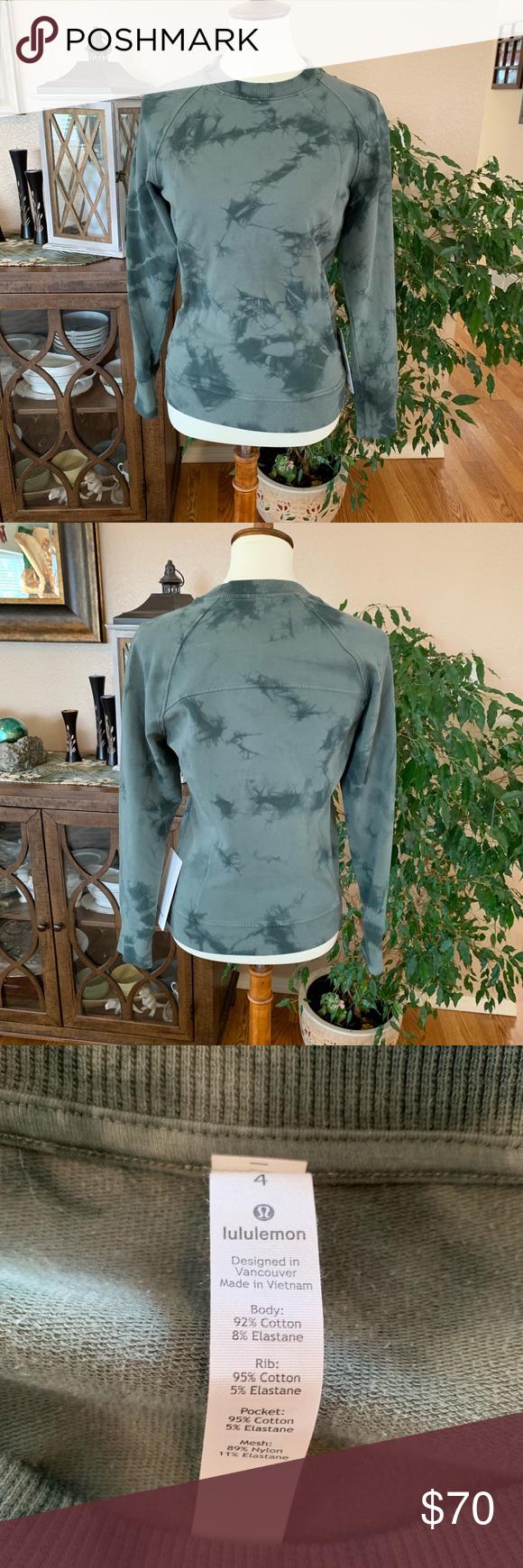 Lululemon Scuba Crew Nwt Long Sleeve Tshirt Men Clothes Design Fashion Design [ 1740 x 580 Pixel ]