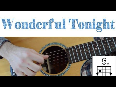 Eric Clapton Wonderful Tonight Easy Guitar Lesson Chords