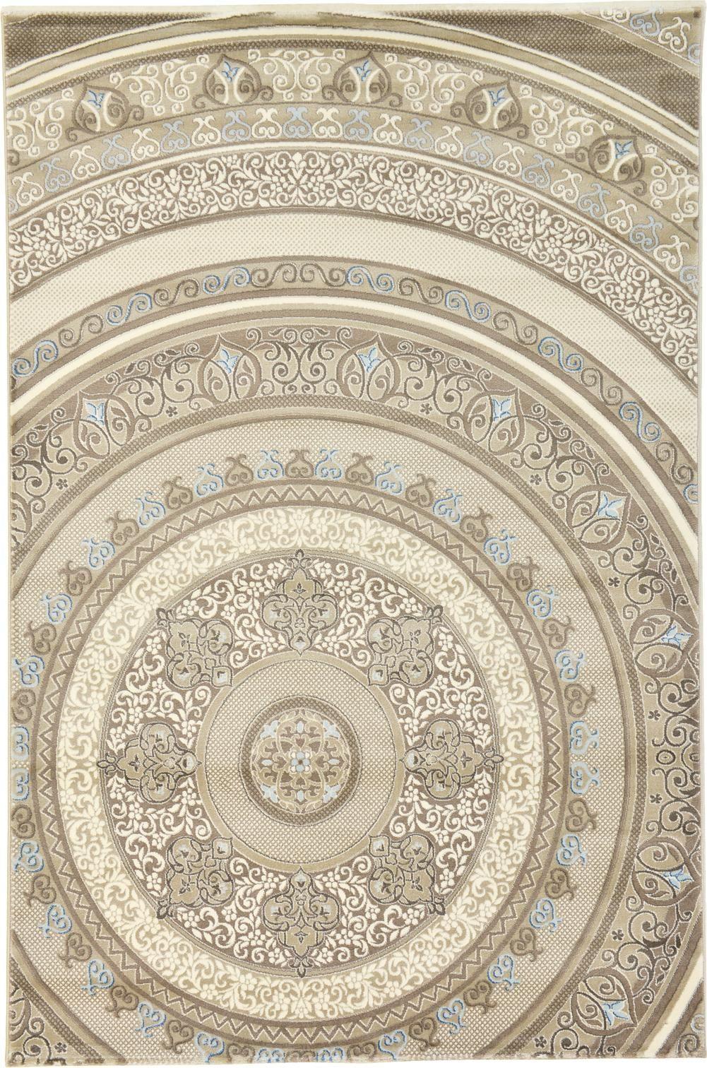 Ivory 6' 7 x 9' 10 Damask Rug | Area Rugs | eSaleRugs