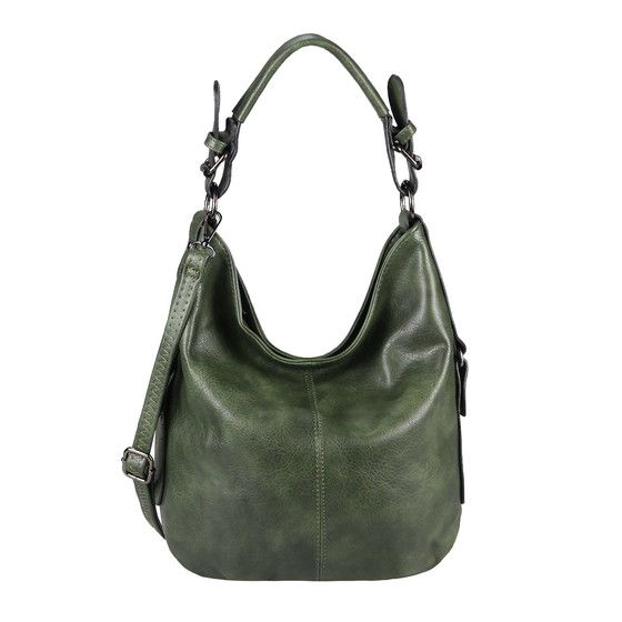 OBC LADIES BAG SHOPPER Bolso hobo Bolso bandolera con asa superior Ta1622.Verde  – Boda fotos