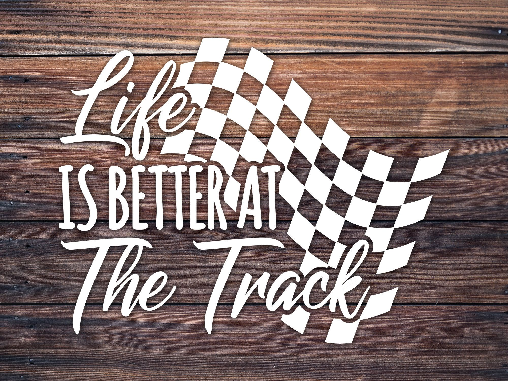 Drag racing decal car cup vinyl decal track life sticker