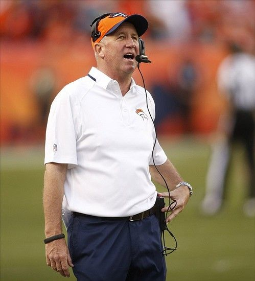 Broncos head coach John Fox during the second half against the Washington Redskins at Sports Authority Field at Mile High.