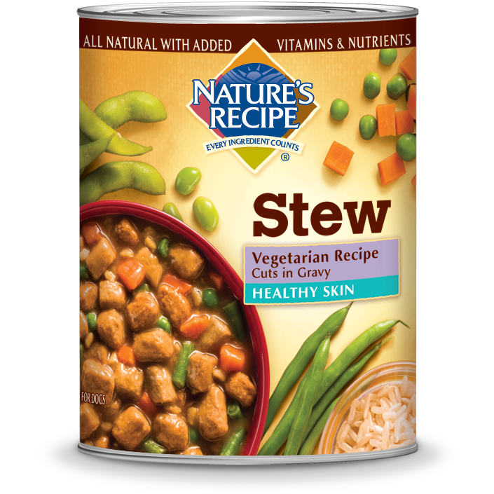 Our vegetarian cuts in gravy dog food can help keep your dog healthy natures recipe healthy skin vegetarian recipe cuts in gravy stew canned dog food case of 12 forumfinder Images