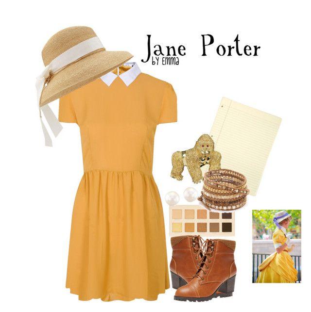 Jane Porter by emmalovesdisney456 on Polyvore featuring polyvore, mode, style, Glamorous, Wet Seal, Chan Luu, Helen Kaminski, LORAC and Disney