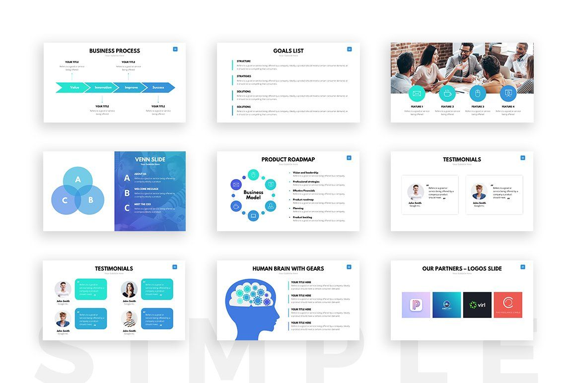 Looking For A Clean Powerpoint Template Boost Your Sales And Present Your Project Like Simple Powerpoint Templates Powerpoint Templates Presentation Templates